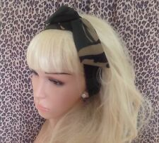 CAMOUFLAGE CAMO COTTON BENDY WIRE HAIR SCARF WRAP WIRED HEADBAND ARMY WAR GIRL