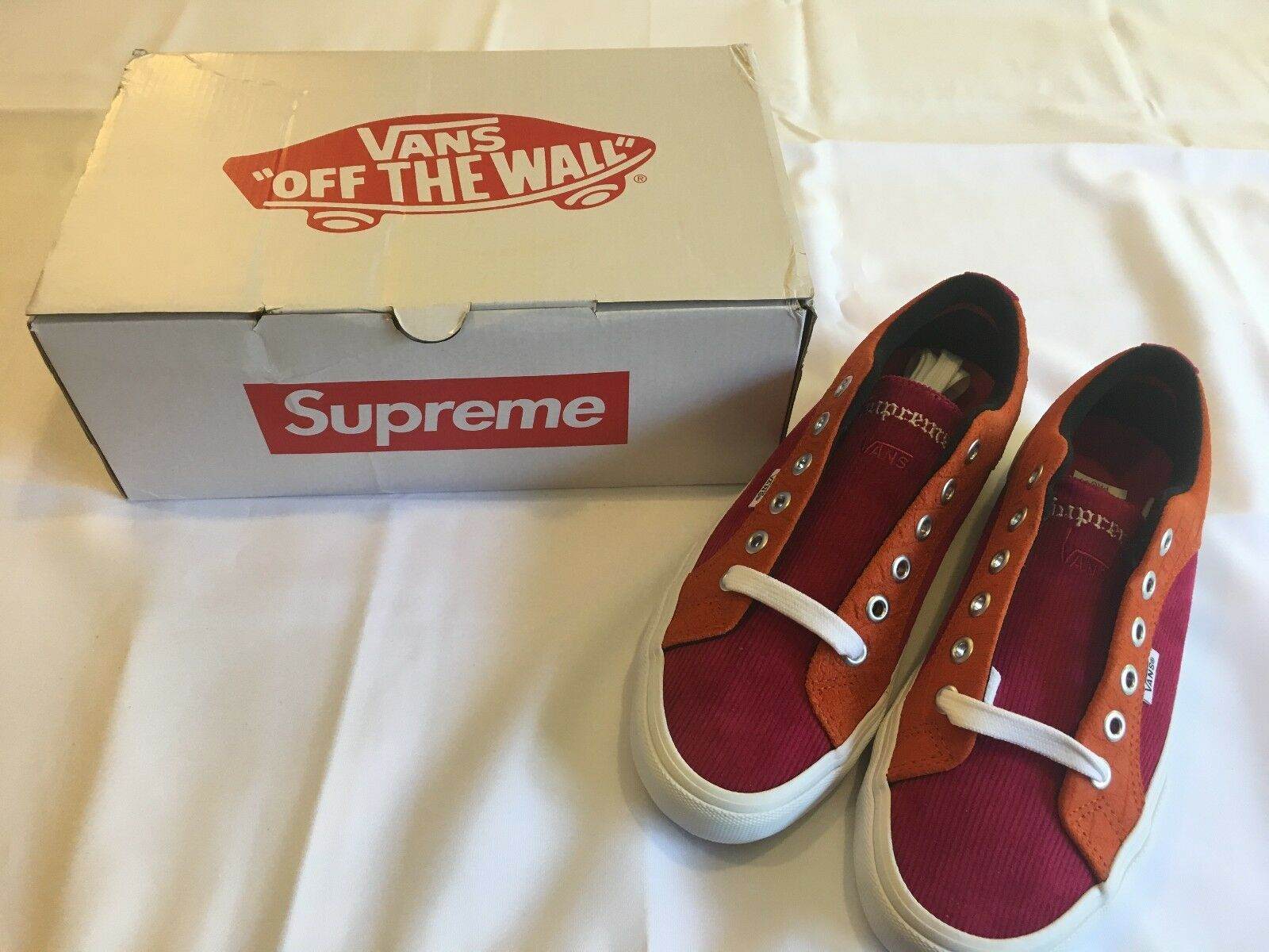 Supreme® Vans® Crocodile Corduroy Lampin Pro Rust Pink Purple orange