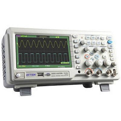"""ATTEN ADS1102CAL 100M Hz 1G Digital Oscilloscope 7"""" LCD"""