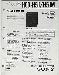 Details zu SONY FH-B510 MHC-510 HCD-H51 Compact Stereo System Service on