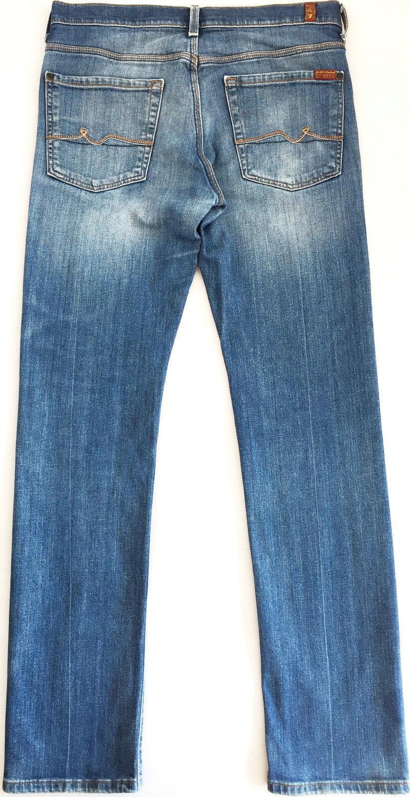 f0f9a6fd 7 FOR ALL Men SLIMMY Used Indigo Jeans Slim Fit Stretch W32 W33 L33 bluee  MANKIND nfhxiy5785-Jeans