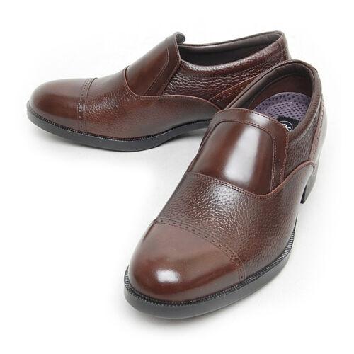 Men/'s Leather Straight Tip poinçonné augmentation Semelle Mocassins Marron Corée US 6-10