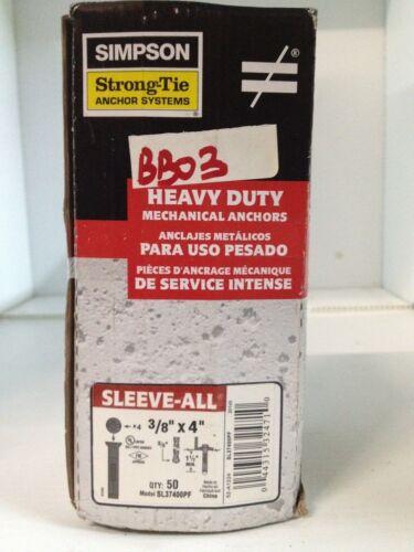 BB03-50 Simpson Strong Tie 3//8 x 4 SL37400PF