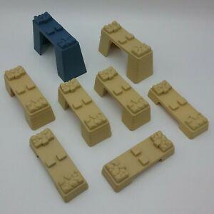 Thomas Tank Engine Tan 1 Blue Track Risers Bridge Supports Trackmaster Mattel