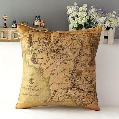 Novelty Printing Cotton Pillow Case Sofa Home Decor Throw Square Cushion Cover