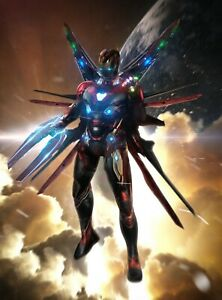 Details about Iron Man - Infinity Stones Gauntlet Marvel Comics Art Poster  / Canvas Pictures