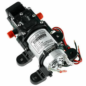 100PSI-4L-Min-High-Pressure-Diaphragm-Water-Pump-12V-For-Car-Marine-Yacht-Boat