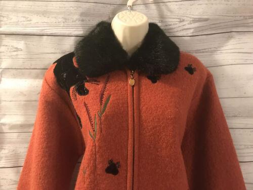 avec Panther International fausse à Black en grand fourrure laine glissière noir International bouillie Manteau Lisa wZ1qPSS