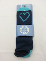 Life Is Good Woman's No Show Cotton Socks Large True Blue Free Shipping