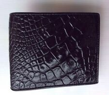 100% Genuine crocodile skin leather bifold men black wallet