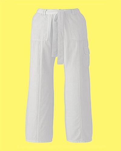 Self belted combats Mesdames pantalon 28 en taille 12 14 18 20 22 UK blanc