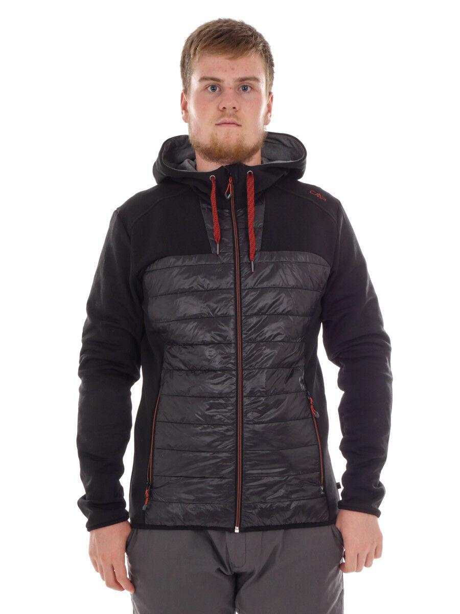 CMP Funktionsjacke Steppjacke Hoodie-Jacket schwarz isolierend leicht
