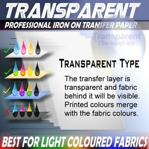 Details about 40[T] INKJET PRINTER Blank IRON ON HEAT TRANSFER PAPER Sheets  LIGHT SHIRT FABRIC
