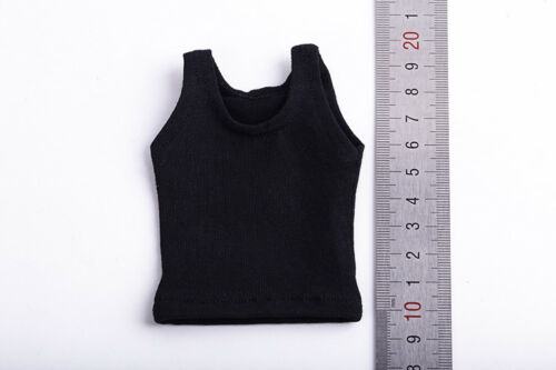 "X1 1:6 Figure Black Men/'s Clothing Sleeveless Vest Shirt For 12/"" Male Body Doll"