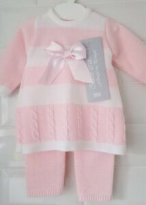 105135695b741 Spanish Style Baby Girl Knitted 2 Piece Dress and Leggings Set ...