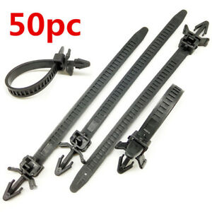 145x-7-8mm-Hole-Cable-Wire-Style-Car-Trailer-Zip-Ties-Wrap-Push-Rivets-Clip-50PC