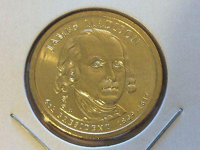 BU $1 Coin Uncirculated 2007 Denver Mint James Madison Presidential Gold Dollar