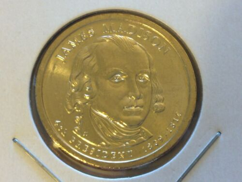 BU $1 Coin Uncirculated 2007 Denver Mint James Madison Presidential Gold Dollar