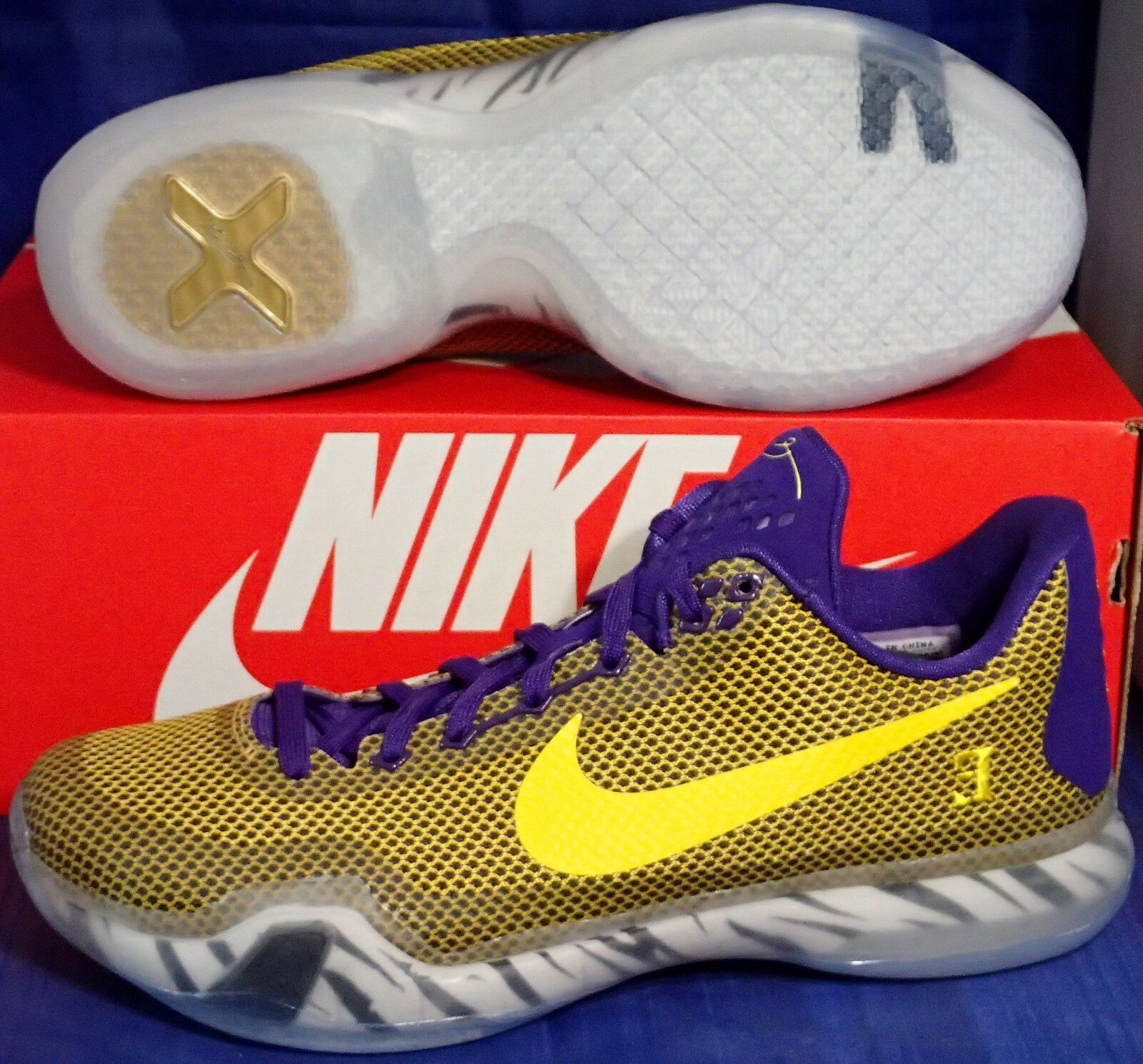 Nike Kobe X 10 Lakers Identificador De Los Angeles Lakers 10 (7774201881) 267fac