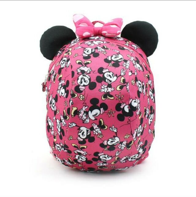 Kids Toddler Baby Cute Minnie Mouse Chracter Safety Harness Backpack - Pink 2accb3384af72