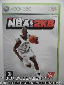 OCCASION-Jeu-NBA-2K8-xbox-360-microsoft-game-francais-2008-basket-sport-action