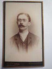 Strassburg - 1889 - Student mit Zwicker - Biername Pollux - CDV / Studentika