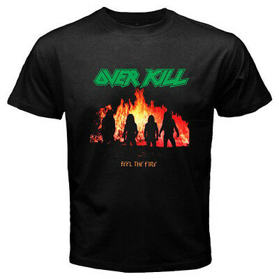 New OVER KILL Under The Influence Metal Rock Band Men/'s Black T-Shirt Size S-3XL