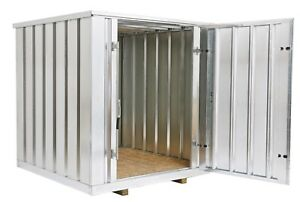 Galvanized Steel Storage Shed Container65 ft wide x 7 ft long x