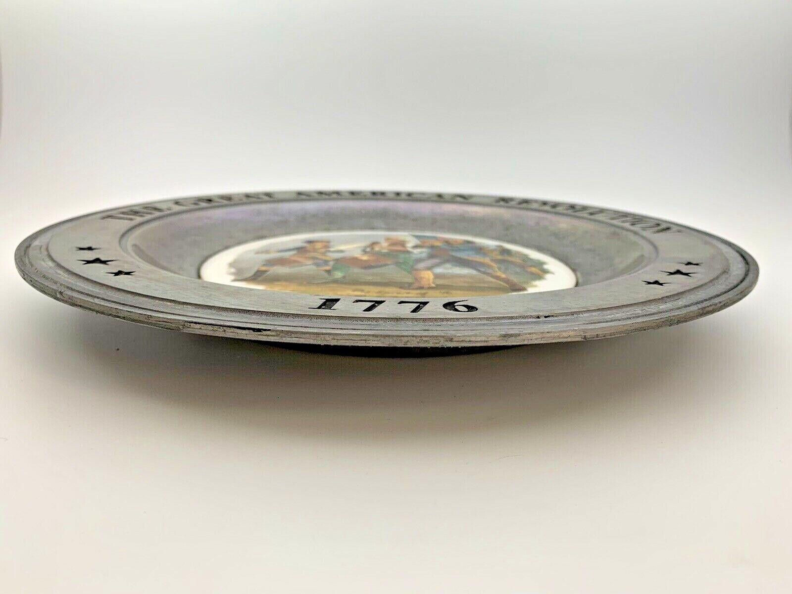 Armetale /& Ceramic Commemorative Plate Revolutionary War