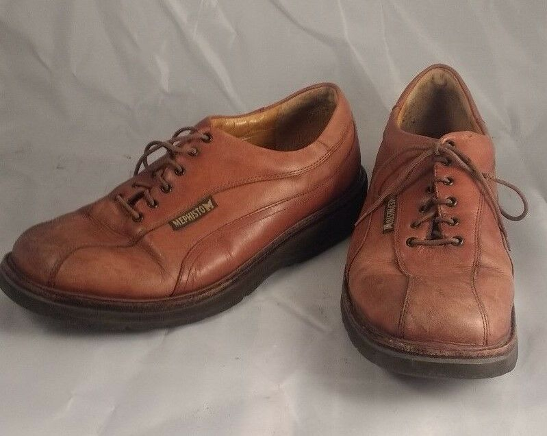 Scarpe casual da uomo Mephisto GoodYear Air-Relax Brown Comfort Shock Absorber Oxford Shoes Size 8