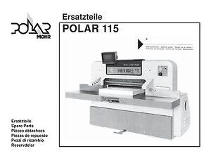 polar 115 emc parts manual 115 ebay rh ebay com Polar Cutter Parts Guillotina Polar