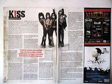 COUPURE DE PRESSE-CLIPPING :  KISS [2pages] 06-07/2008 Eric Singer,Interview