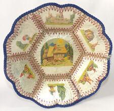 Ostern Osterteller Osternest Osterkörbchen Antik Pappe Zelluloid  um 1900
