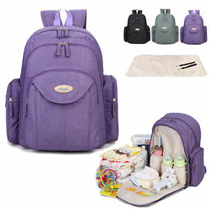 water resistant baby diaper bag backpack changing bag travel bag nappy bag ebay. Black Bedroom Furniture Sets. Home Design Ideas