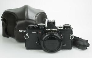 Olympus Om2n 35mm film camera reflex analogica body black om mount zuiko lenses