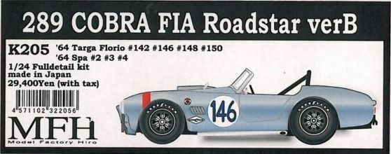 Mfh 1   24 roadstar targa florio 289 cobra - slowakei & '64 spa genau kit