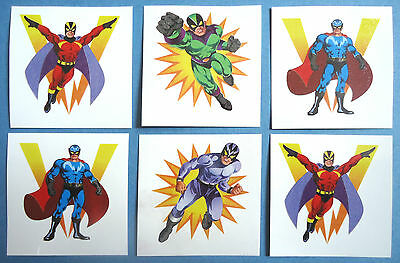 6 SUPER HERO Tattoos / Transfers Boys Birthday Party Loot Bag Fillers / Favours