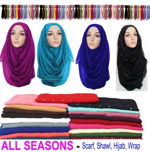 Hot ladies womens maxi large diamond studs hijabs//scarf//sarong//shawl//wrap Stone