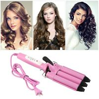 Three Barrel Triple Barrel Ceramic Hair Curling Iron Deep Waver Curler Tool BE