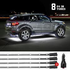 WHITE Bright Led Under Car Truck SUV Glow Neon Strip Lights Kit 3 Pattern+8Tube