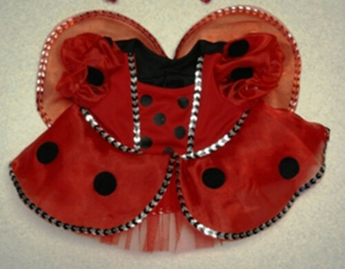 "Teddy Bear LADYBUG Costume with WINGS CLOTHES Fit 14-18/"" Build-a-bear !!NEW!!"