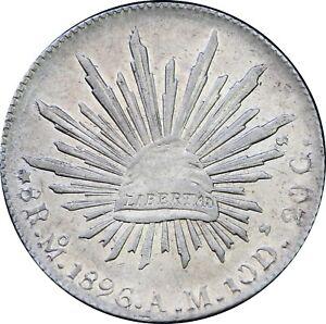 Mexico-8-Reales-Mo-1896-A-M-Mexico-City-Mint-KM-377-10