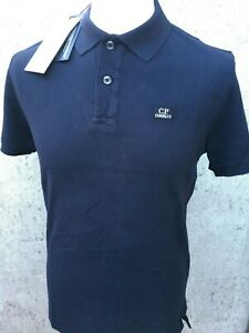 C-P-Company-Short-Sleeve-Cotton-Polo-Shirt-Brand-New-With-Tags-Total-Eclipse