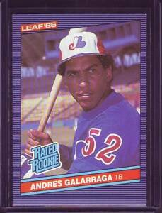 Details About Andres Galarraga 1986 Leaf Baseball Rookie Card Rc 27 Montreal Expos 1b Exmt