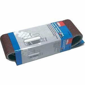 6Pc Assorted Sanding Belts 75 x 533mm Medium Coarse Fine Sander Belt Sheets