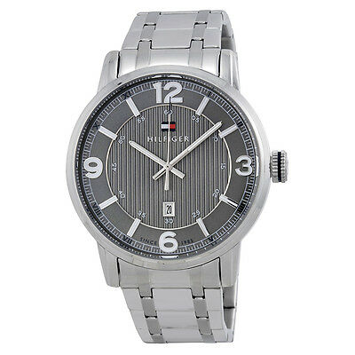 Tommy Hilfiger Grey Dial Stainless Steel Mens Watch 1710345