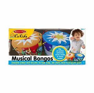 Melissa-amp-Doug-Bongo-Tambores-K-039-s-Ninos-Suave-Instrumento-Musical-Bongos-Juguete