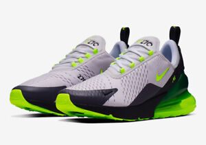 Details zu Mens Nike Air Max 270 Trainers GreyGreenWhite CJ0550 001