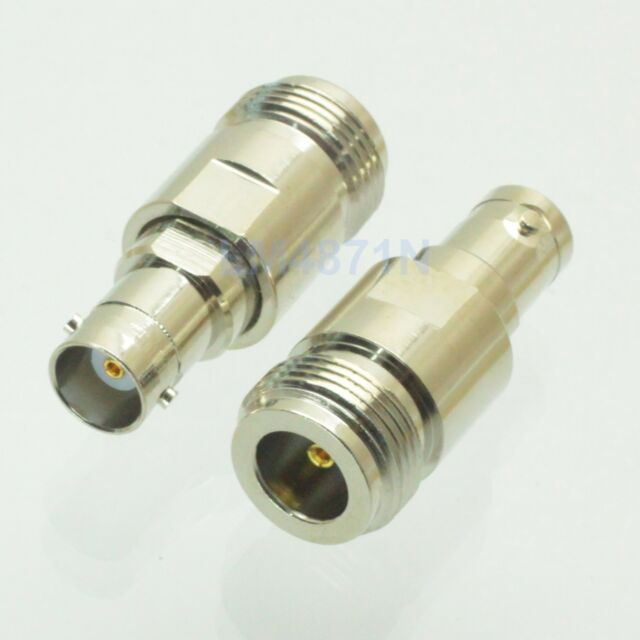 1pce Adapter N female jack to BNC female RF connector straight F/F