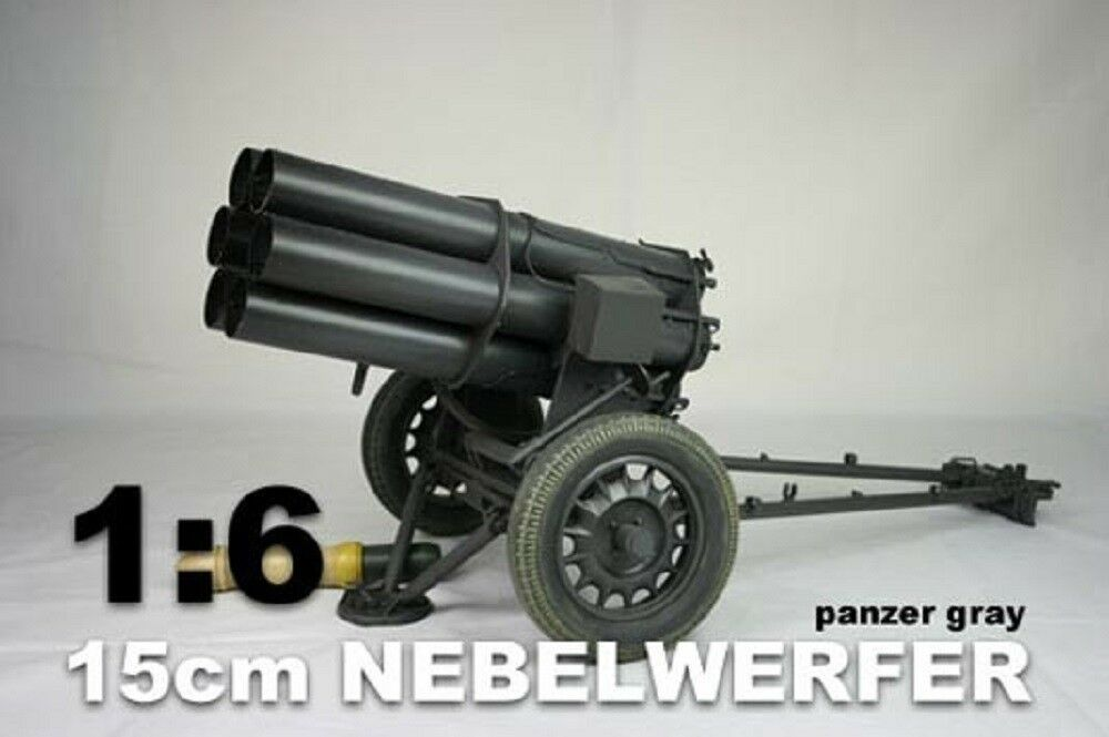 WWII Nebelwerfer Panzar grau Made in Metal 1/6th Scale by DID